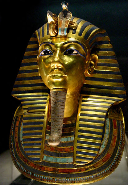 English: Tuthankamen's famous burial mask, on display in the Egyptian Museum in Cairo. Date 	  7 December 2003(2003-12-07) Source 	  Own work by uploader, http://bjornfree.com/galleries.html Author 	  Bjørn Christian Tørrissen Permission (Reusing this file) 	  See below.