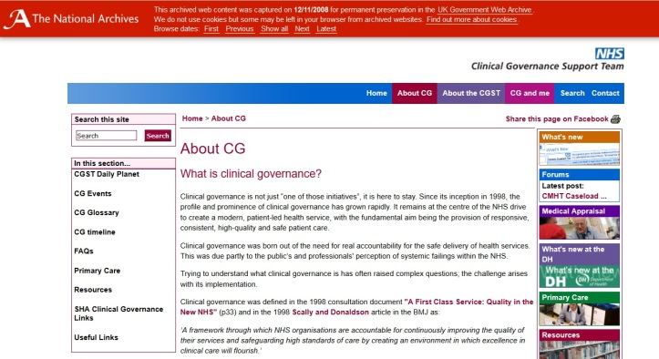 clinicalgovernancearchives
